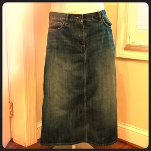 FCUK Denim long Skirt size 2 MINT